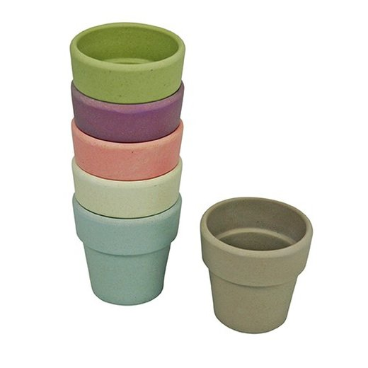 CAPVENTURE  - Zuperzozial - Eierbecher 6er Set  DWN, Bio, dawn colours