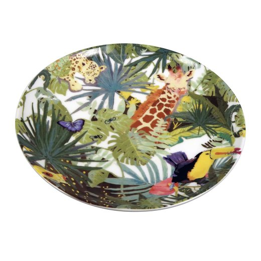 Capventure The ZOO Plate Tropical 4er Set Ceramic Plate, bunt, D 20 x H 2 cm