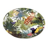 Capventure The ZOO Plate Tropical 4er Set Ceramic Plate,...