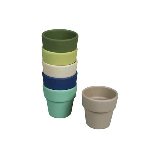 CAPVENTURE  - Zuperzozial - Eierbecher 6er Set  BRZ, Bio, Breeze colours