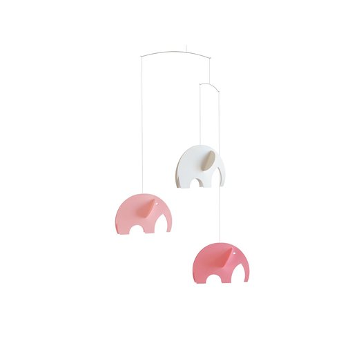 Flensted Mobiles Olephants, pink